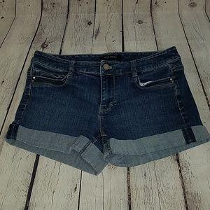 White House Black Market blue jean shorts, sz 4